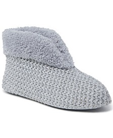 Women's Textured Knit Bootie Slippers, Online Only