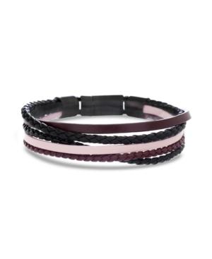 Ben Sherman Braided Leather Men's Bracelet