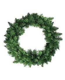 "24""  Pre-Lit Whitmire Pine Artificial Christmas Wreath - Warm White LED Lights"