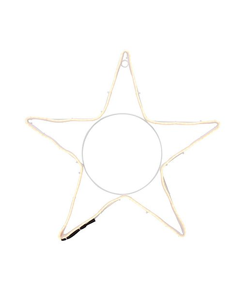 "Northlight 19.75"" Neon Style LED Lighted Star Christmas Window Silhouette Decoration"