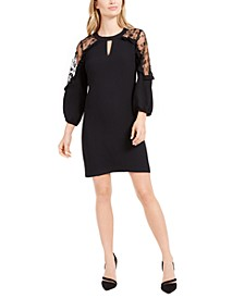 Lace Shoulder Sheath Dress