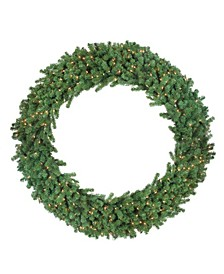Deluxe Windsor Pine Artificial Christmas Wreath - 60-inch Clear Lights