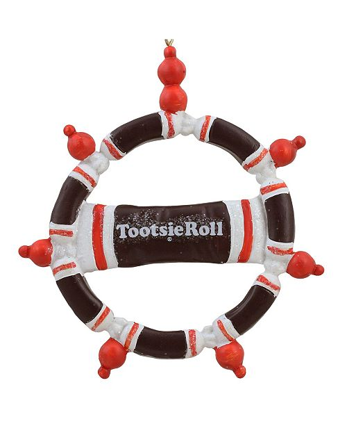 """Northlight 4"""" Tootsie Roll Original Chewy Chocolate Candy Christmas Wreath Ornament"""