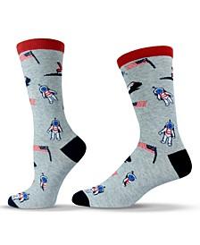 Unisex Americana Nasa Astronaut Crew Socks