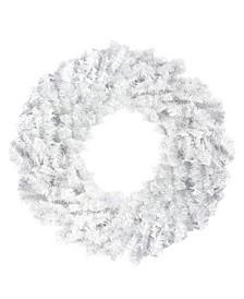 "24"" White Canadian Pine Artificial Christmas Wreath - Unlit"