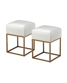 Gold Accent Stools (Set of 2), Quick Ship