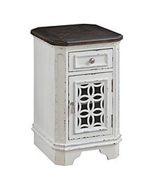 One Door/One Drawer Side Table, Quick Ship