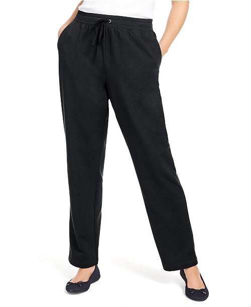 Karen Scott Petite Drawstring-Waist Sweatpants, Created For Macy's