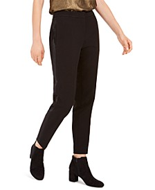 Tuxedo Satin-Stripe Straight-Leg Pants, Created For Macy's