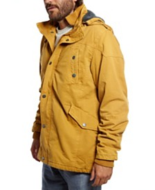 Distortion Twill Sherpa Lined Jacket with Removable Hood