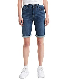 Bermuda High Rise Denim Shorts