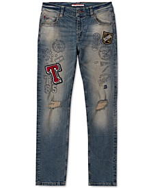 Little Boys Prepster Stretch Logo Patch Jeans
