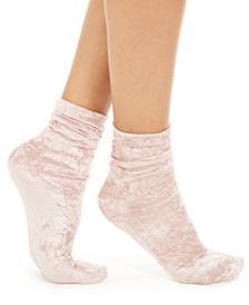 I.N.C. Women's Velvet Slouchy Crew Socks, Created For Macy's