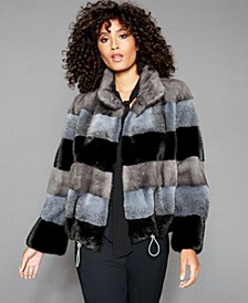 Striped Mink-Fur Jacket