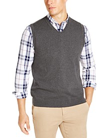 Men's Regular-Fit V-Neck Sweater Vest, Created for Macy's