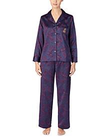 Petite Satin Pajama Set