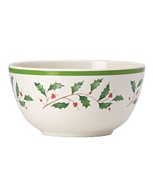 Lenox Holiday Melamine Bowls, Set of 4