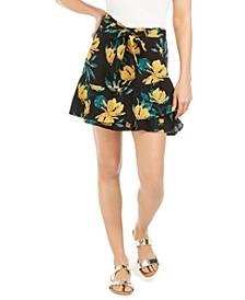 Juniors' Mi Mascota Floral-Print Skirt