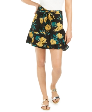 Roxy Skirts JUNIORS' MI MASCOTA FLORAL-PRINT SKIRT