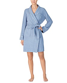 Lauren Ralph Short Brushed Knit Robe
