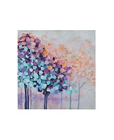 Madison Park Magic Forest Hand Brush Embellished Canvas