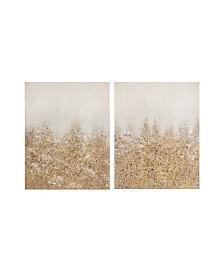Madison Park Golden Glimmer Hand Brush Embellished Canvas, Set of 2