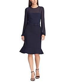 Georgette-Jersey Dress
