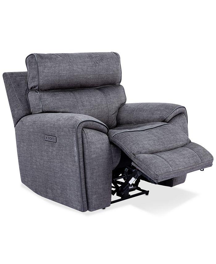 "Furniture - Hutchenson 43"" Fabric Power Recliner"