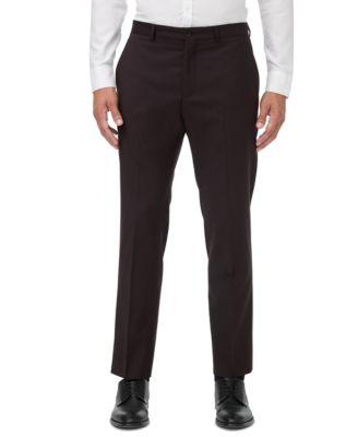 Men's Modern-Fit Burgundy Neat Suit Separate Pants