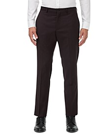 Men's Modern-Fit Burgundy Neat Suit Separate Pants