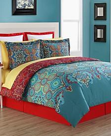 Terra Floral Medallion 4-Piece Full Comforter Set