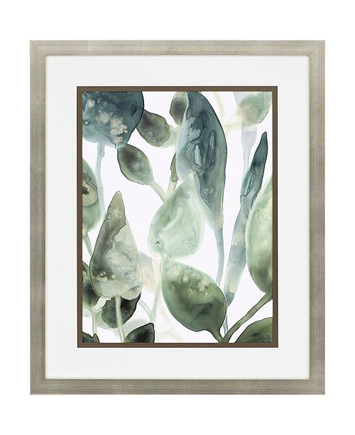 """Paragon Water Leaves IV Framed Wall Art, 34"""" x 28"""""""