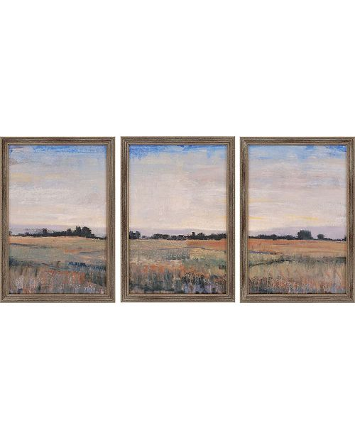 "Paragon Horizon Framed Wall Art Set of 3, 20"" x 14"""