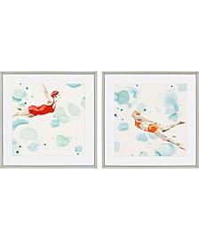 "Poolside I Framed Wall Art Set of 2, 27"" x 27"""