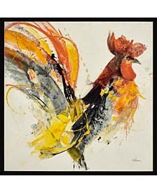 """Festive Rooster I Framed Wall Art, 31"""" x 31"""""""