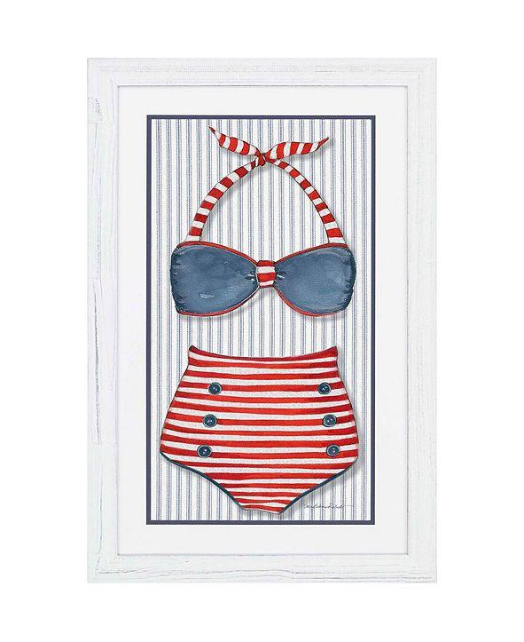 "Paragon Vintage-like Swimsuit 1 Framed Wall Art, 45"" x 29"""