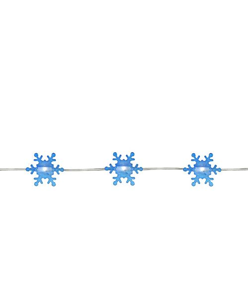 Northlight 20 Warm White Snowflake Shaped LED Christmas Fairy Lights 6 ft Copper Wire