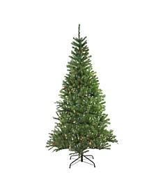 7' Pre-Lit Vail Spruce Medium Artificial Christmas Tree - Multi Lights