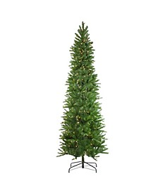 7.5' Pre-Lit Northwood Noble Fir Artificial Pencil Christmas Tree - Clear Lights