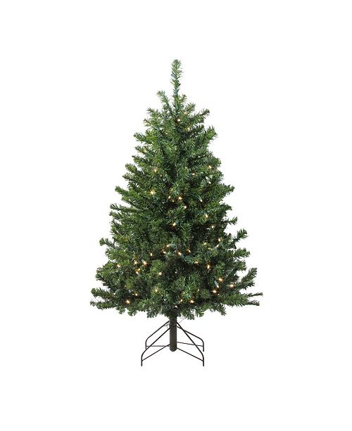 Northlight 4' Pre-Lit LED Canadian Pine Artificial Christmas Tree - Clear Lights