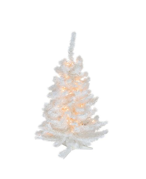 Northlight 3' Pre-Lit Snow White Artificial Christmas Tree - Clear Lights