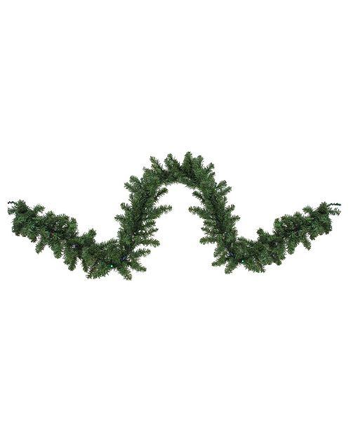 Northlight 9'  Pre-Lit LED Canadian Pine Artificial Christmas Garland - Multi Lights