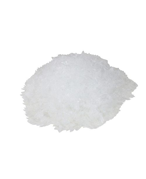 Northlight White Artificial Powder Snow Flakes for Christmas Crafts and Decorating 2.5qts