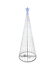 9' Blue LED Lighted Show Cone Christmas Tree Outdoor Decoration