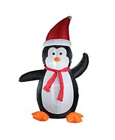 4' Inflatable Festive Penguin Lighted Christmas Yard Art Decoration