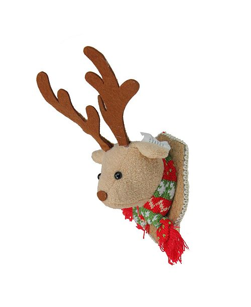 Northlight Stuffed Moose Head Wall Plaque Christmas ornament