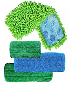3+1 Replacement Pads For Fibermop Cleaning Kits