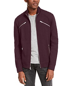 INC Men's Ribbed Quilted-Sleeve Jacket, Created for Macy's