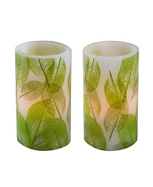 Lumabase Battery Operated Wax Candle, Set of 2