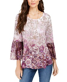 Printed Babydoll Tunic, Created For Macy's